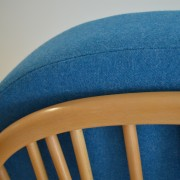 Ercol 203 Windsor Chair in blue fabric