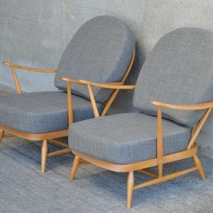 Vintage Ercol Armchair with Exclusive Print Covers - The ...