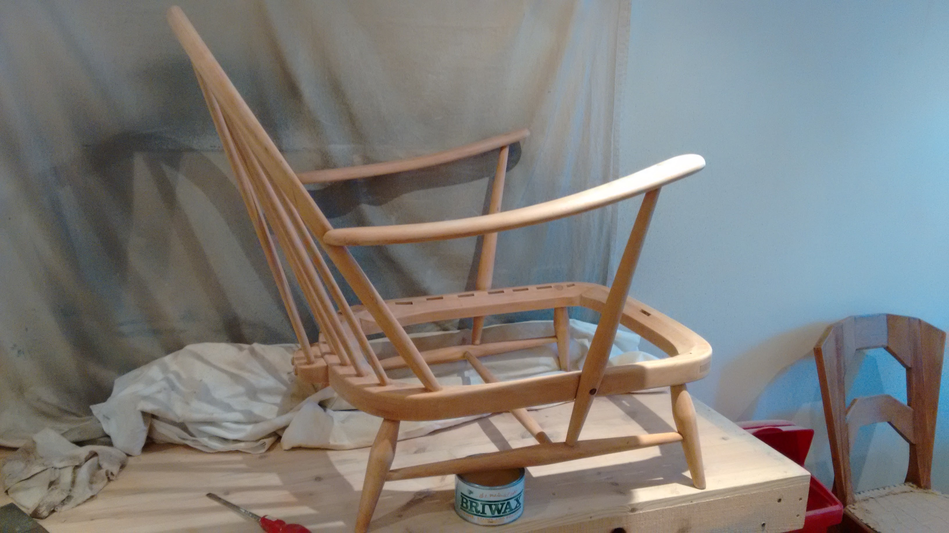 Ercol chair restoration